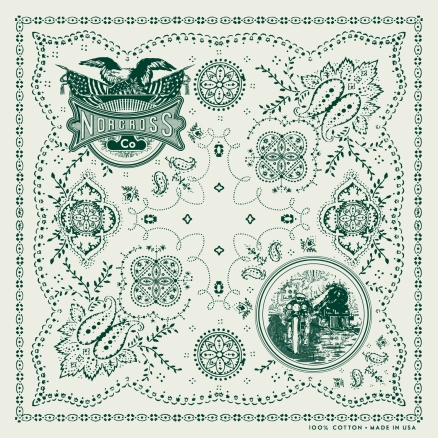 Custom Bandana Design w/ Illustrations for Norcross Co.