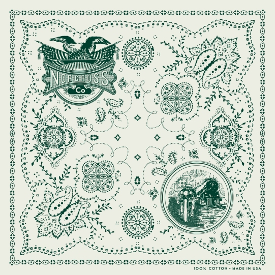 Custom Bandana Design w/ Illustrations for Norcross Co.