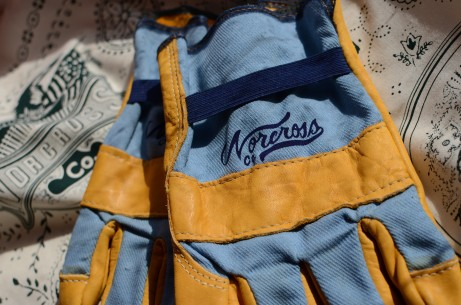 Custom Work Gloves w/ Discharge Print for Norcross Co.