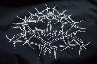 1-color Discharge Print on Gildan 2000 for the NY band, Krallice.